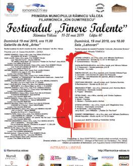 """""""Vibrații artistice"""" Festivalul """"Tinere Talente"""" - Ediția 40"""