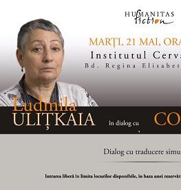 Ludmila Ulițkaia în dialog cu Marina Constantinescu Marți, 21 mai, ora 19.00 la Institutul Cervantes (Bd. Regina Elisabeta nr.38)
