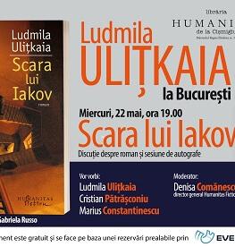 """Ludmila Ulițkaia la București. Discuție despre romanul """"Scara lui Iakov"""" urmată de o sesiune de autografe Miercuri, 22 mai, ora 19.00 la Librăria Humanitas de la Cișmigiu"""