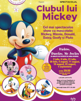 Clubul lui Mickey Show de animație cu mascote și personaje