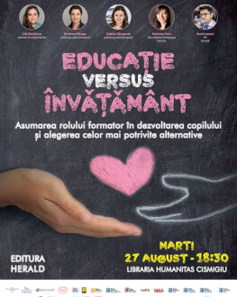 Educație versus Învățământ Asumarea rolului formator în dezvoltarea copilului și alegerea celor mai potrivite alternative educaționale