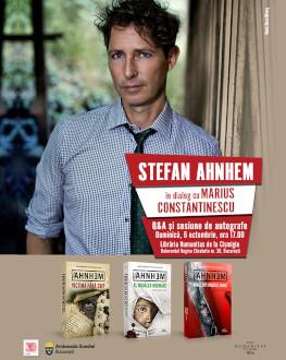 Stefan Ahnhem la București duminică, 6 octombrie, de la ora 17.00, la Librăria Humanitas de la Cișmigiu