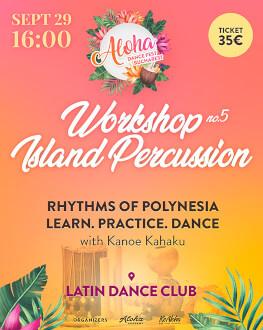 Percussion Workshop: Rhythms of Polynesian Islands Bucharest Aloha Dance Fest 2019