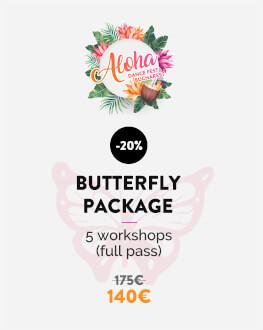 Pachet Butterfly 5 ateliere / Pachet complet Bucharest Aloha Dance Fest 2019