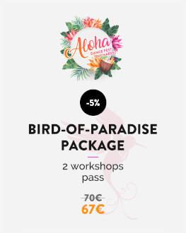 Pachet Pasărea-Paradisului - 2 ateliere (la alegere: sâmbătă & duminică) Bucharest Aloha Dance Fest 2019