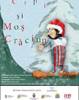 Cipi și Moș Crăciun spectacol de teatru de păpuși