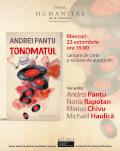 """""""Tonomatul"""", povestiri fantastice de Andrei Panțu lansare cu Marius Chivu, Nona Rapotan și Michael Hăulică"""
