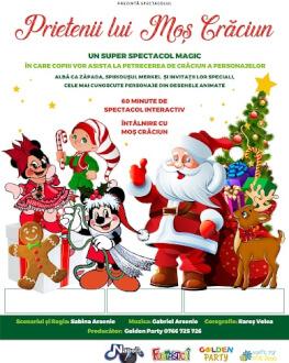 Prietenii lui Moș Crăciun la Sibiu Spectacol muzical de Craciun pentru copii cu mascote si personaje