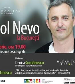 """Eshkol Nevo revine la București pentru lansarea romanului """"Simetria dorințelor"""" Lansare de carte și sesiune de autografe"""