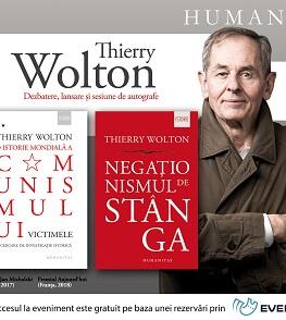 """Thierry Wolton în dialog cu Ioan Stanomir și Gabriel Liiceanu Despre """"O istorie mondială a comunismului. Victimele"""" și despre volumul """"Negaționismul de stânga"""" – joi, 21 noiembrie, ora 19"""