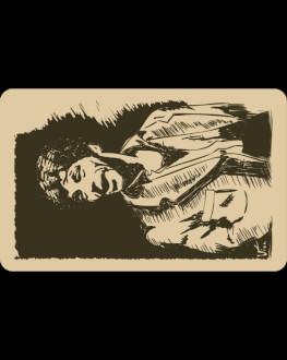 Don Juan: uncard de spectator ilustrat de Gheorghe Visu