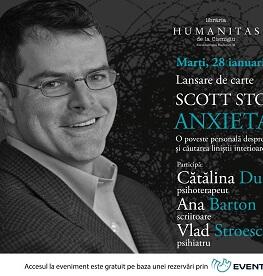 """""""Anxietatea. O poveste personală despre frică, speranță și căutarea liniștii interioare"""" de Scott Stossel lansare de carte marți, 28 ianuarie, ora 19.00, la Librăria Humanitas de la Cișmigiu"""
