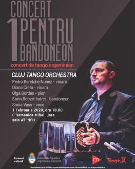 Concert pentru un bandoneon - concert de tango argentinian Cluj Tango Orchestra alături de Sonia Vass - voce