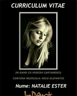 Curriculum Vitae cu Natalie Ester