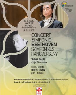 CONCERT SIMFONIC BEETHOVEN SHINYA OZAKI – dirijor, HIDEYO OZAWA – pian