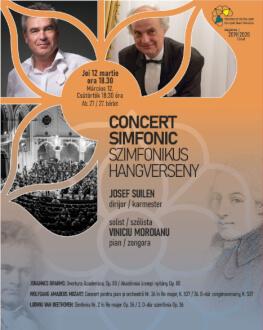 CONCERT SIMFONIC JOSEF SUILEN – dirijor, VINICIU MOROIANU – pian