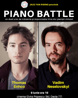 Piano Battle: Thomas Enhco vs. Vadim Neselovskyi Un duel între doi pianiști virtuozi la Jazz Fan Rising