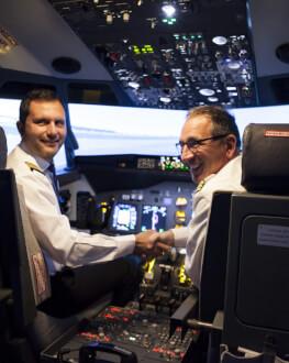 Scapa de frica de zbor la mansa unui simulator B737-800 New Generation