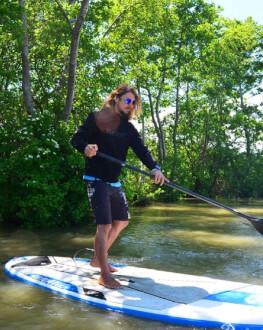 Stand up paddle in Delta Dunarii - vasleste, pe placa de surf, pe canalele Dunarii