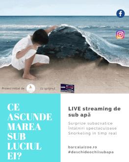 Sustine proiectul Barca lui Zoe - Live streaming de sub apa Fiecare susținător va primi cadou Ghidul de Snorkeling pentru Începători