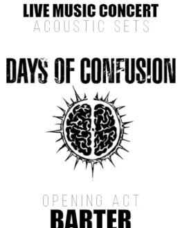 Live Music: Days of Confusion. Opening act: Barter. Acustic Sets Bucharest Photofest 2020