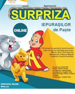 Surpriza Iepurasilor de Paste Spectacol cu mascote si personaje