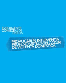 Provocări în intervenția profesioniștilor în cazuri de violență domestică / Challenges in the intervention of professionals in cases of domestic violence One World Romania, ediția a 14-a