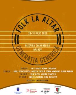 """Concert Nicu Alifantis & Mircea Florian Festivalul """"Folk la altar – generația generică"""" la Râșnov"""