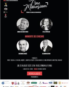 Gala CineMemoriam SERILE FILMULUI ROMÂNESC (SFR), ediția a 12-a