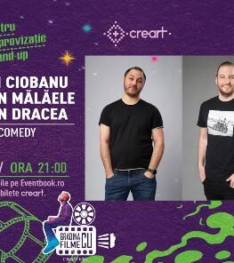 Stand-up comedy: Andrei Ciobanu, Bogdan Mălăele, Bogdan Dracea