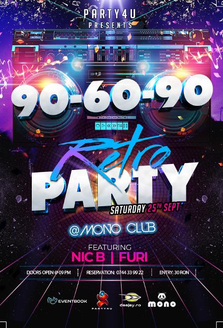 90-60-90 Retro Party Back to Disco with Nic B & Furi