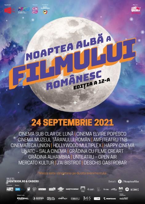 După 40 de zile Noaptea Albă a Filmului Românesc 2021