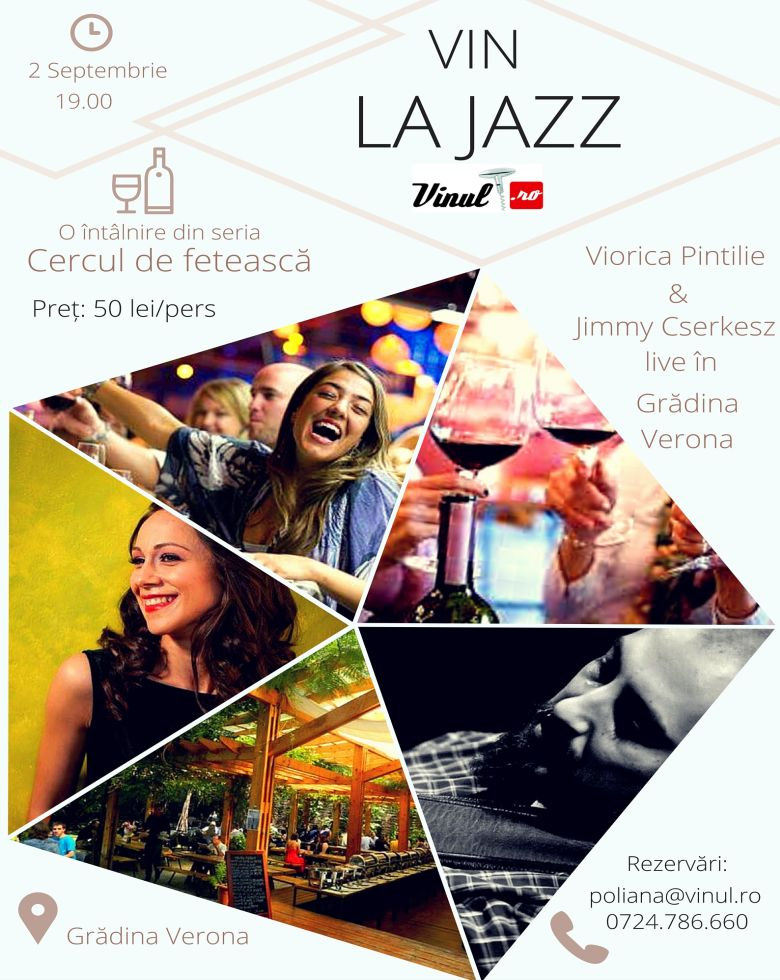 """Vin la jazz! Concert Viorica Pintilie (voce) și Adalbert """"Jimmy"""" Cserkesz (chitară) Cercul de Fetească"""