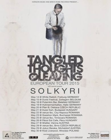 Concert Tangled Thoughts of Leaving [AUS] + Solkyri [AUS ] & Nava Spatiala [RO]