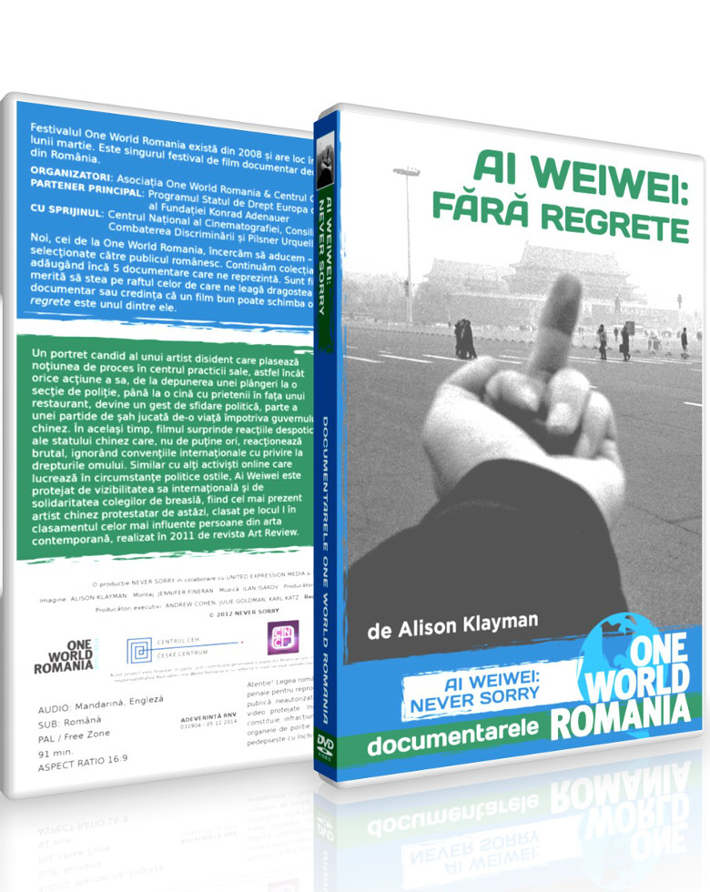 Ai Weiwei: Fără regrete DVD - One World Romania