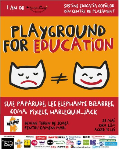 Playground For Education Concert cu Joaca