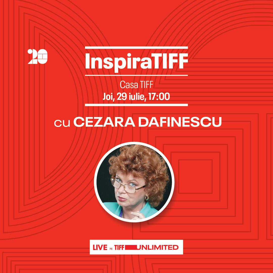 Actress Cezara Dafinescu, Thursday at InspiraTIFF