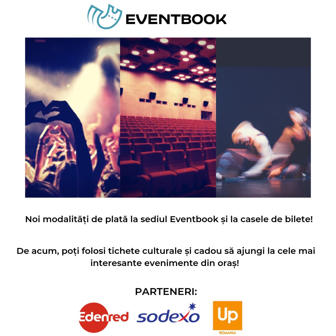 De acum poți achita biletele prin tichete de cultură și cadou la sediul Eventbook și la casele de bilete
