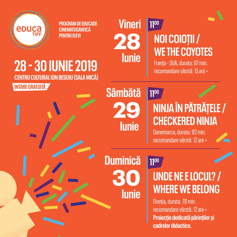 EducaTIFF – 3 proiecții pentru micii cinefili la TIFF Sibiu