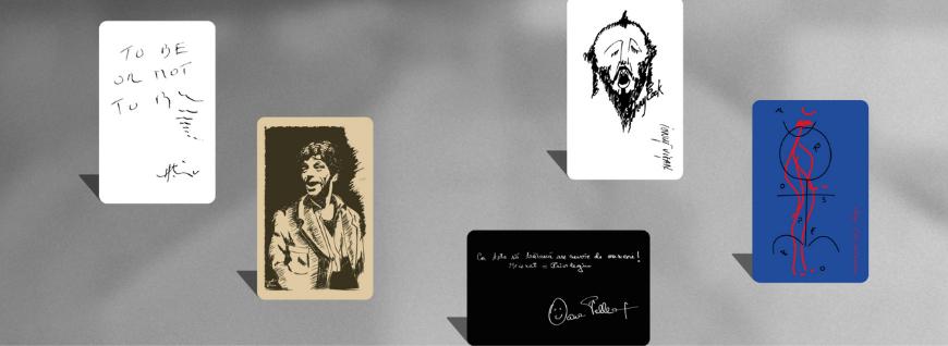 Uncard de spectator – abonamentul unteatru ilustrat de Oana Pellea,  Gigi Căciuleanu, Horațiu Mălăele, Gheorghe Visu și Ionuț Vi