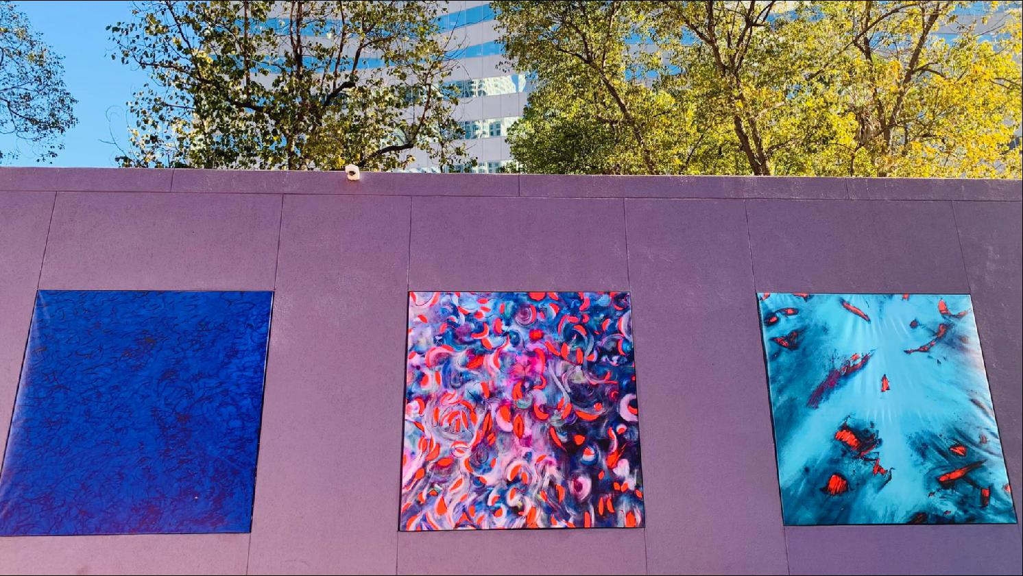 CONTEMPORARY ART EXHIBITION Art Squared Gallery featuring the artwork of Laurel Holloman at Pershing Square, DTLA