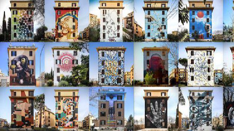 """Visita guidata ai Murales di Tor Marancia - Roma da vivere Tor Marancia """"Big City Life"""": un progetto corale di arte urbana partecipata"""