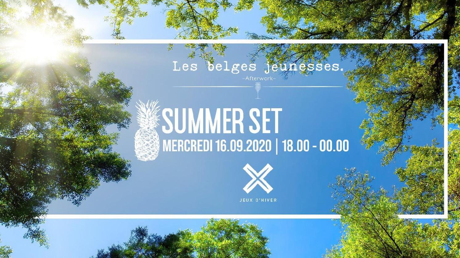 Les belges jeunesses.- Summer Set - L'apero du mercredi