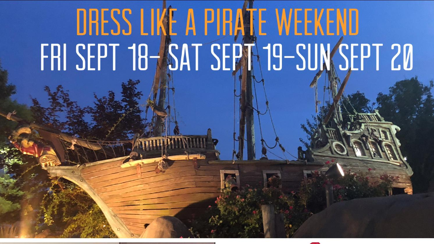 Dress & Talk Like a Pirate Weekend-Aurora Cineplex 9/18-20th