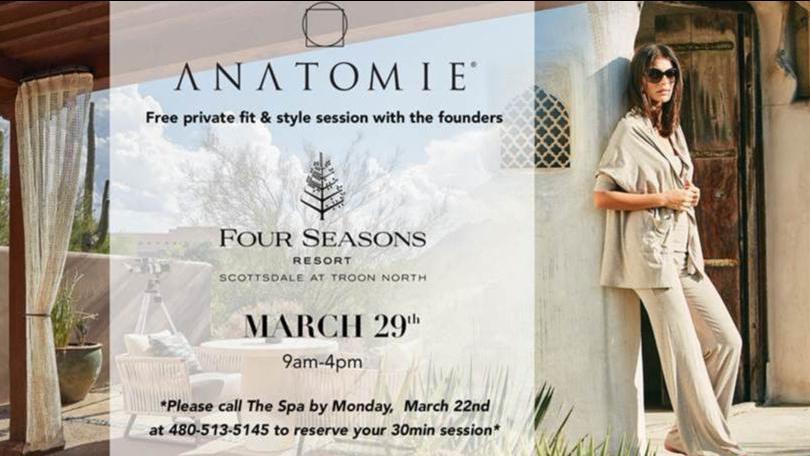 Shop Anatomie's Luxury Travel Wear at Four Seasons Resort Scottsdale (3/27-3/29)