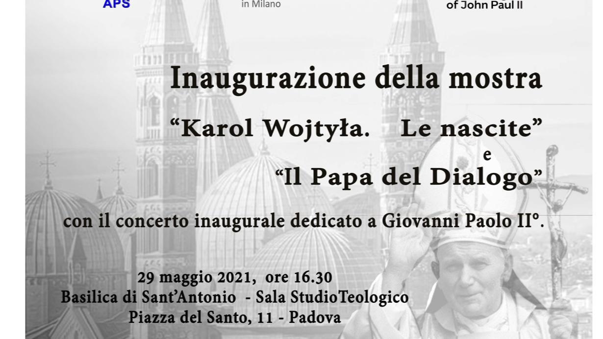 Inaugurazione della mostra dedicata a Giovanni Paolo II con il concerto