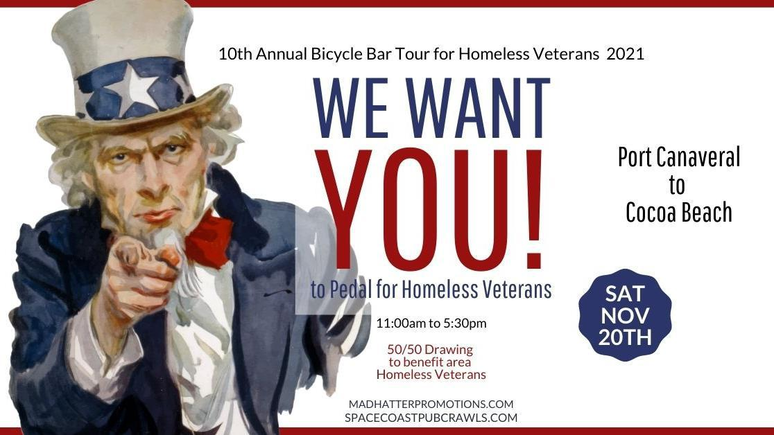 10th Annual Bicycle Bar Tour for Homeless Veterans, Saturday, Nov. 20th, 11:00 am to 5:30 pm