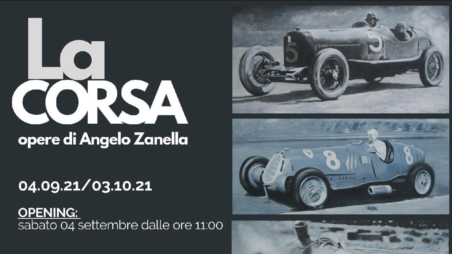 Inaugurazione mostra La Corsa - opere di Angelo Zanella