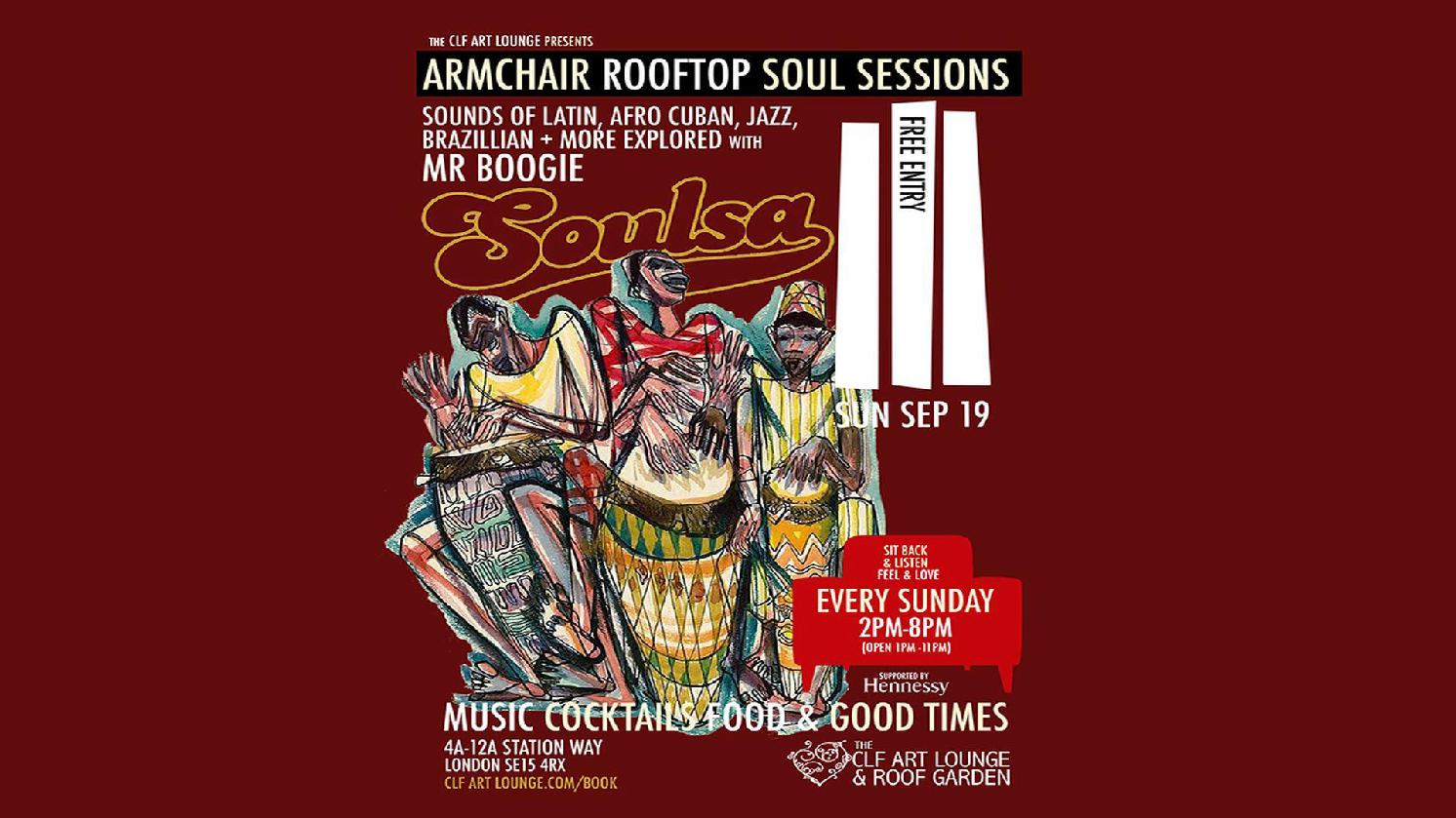 Armchair Rooftop Soul Sessions - Soulsa with Mr. Boogie - Free Entry