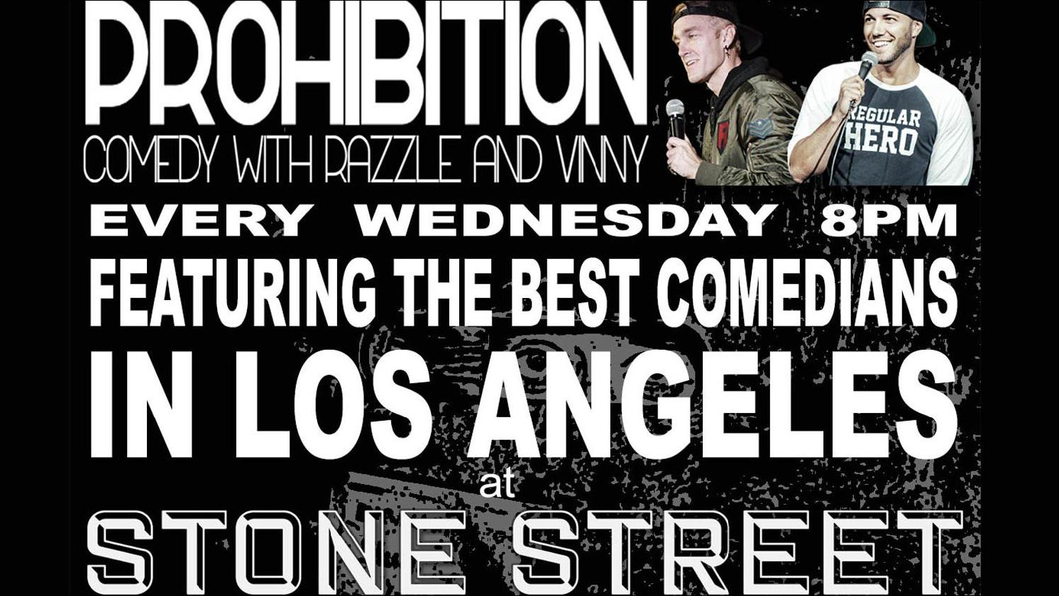 Prohibition Comedy Night in Celebration of Negroni Week with Bombay East at Stone Street LA on Wednesday, September 15th, 2021